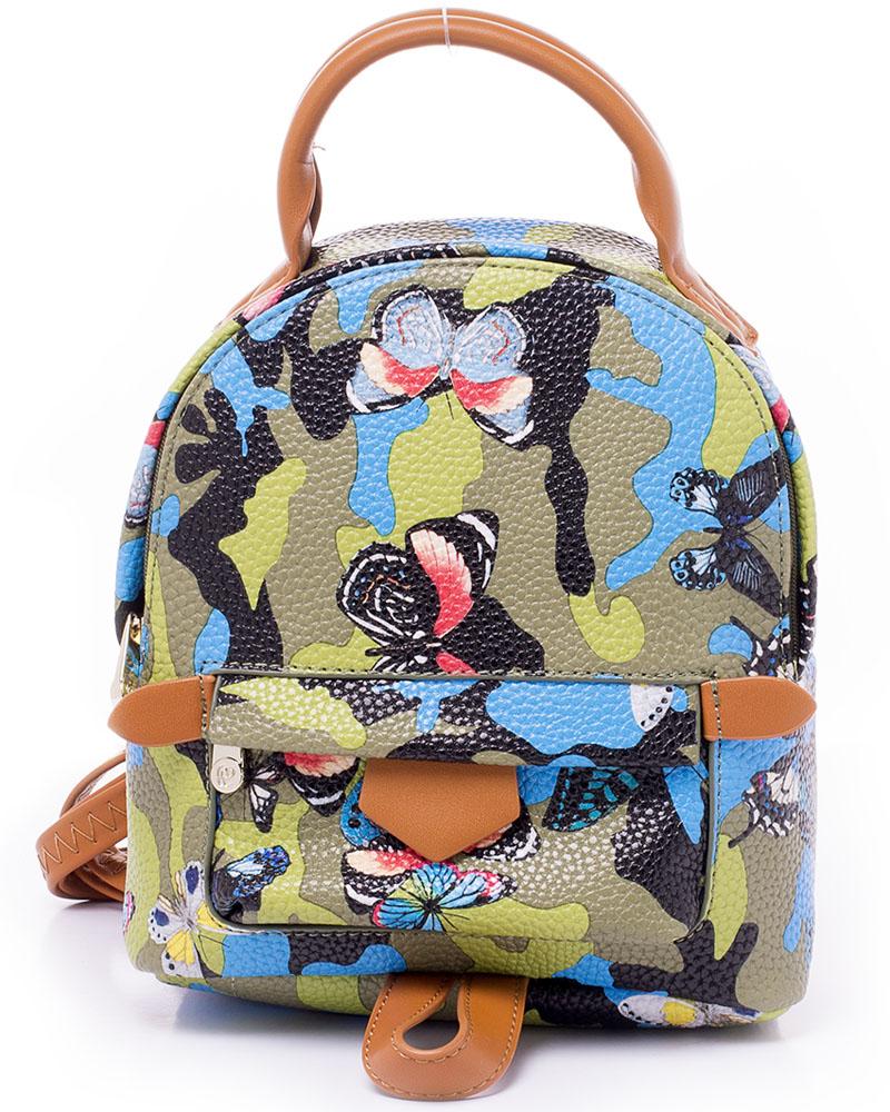 Рюкзак женский Renee Kler, цвет: зеленый, черный, голубой. RK7014-2