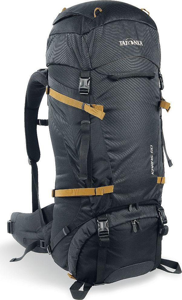 Рюкзак туристический Tatonka Karas, цвет: черный, 60+10 л1361.040Tatonka Karas - это надежный туристический рюкзак с базовым набором характеристик. Регулируемая система Y1 гарантирует комфорт при переносе нетяжелых грузов. Преимущества и особенности:- Система переноски Y1;- Перегородка между верхним и нижним отделениями;- Петли для крепления треккинговых палок;- Лямки анатомической формы;- Регулируемый нагрудный ремень;- Мягкий и удобный поясной ремень;- Возможность затянуть или ослабить пояс одной рукой;- Боковые стяжки;- Ручки в передней и задней частях рюкзака;- 3D-вход в основное отделение;- Карман в крышке рюкзака; - Съемная регулируемая крышка рюкзака;- Просторные боковые карманы.Размер: 74 x 31 x 20 см.