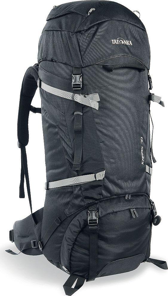 Рюкзак туристический Tatonka Karas, цвет: черный, 70+10 л1362.040Tatonka Karas - это надежный туристический рюкзак с базовым набором характеристик. Регулируемая система Y1 гарантирует комфорт при переносе нетяжелых грузов. Преимущества и особенности:- Система переноски Y1;- Перегородка между верхним и нижним отделениями;- Петли для крепления треккинговых палок;- Лямки анатомической формы;- Регулируемый нагрудный ремень;- Мягкий и удобный поясной ремень;- Возможность затянуть или ослабить пояс одной рукой;- Боковые стяжки;- Ручки в передней и задней частях рюкзака;- 3D-вход в основное отделение;- Карман в крышке рюкзака; - Съемная регулируемая крышка рюкзака;- Просторные боковые карманы.Размер: 78 x 34 x 20 см.