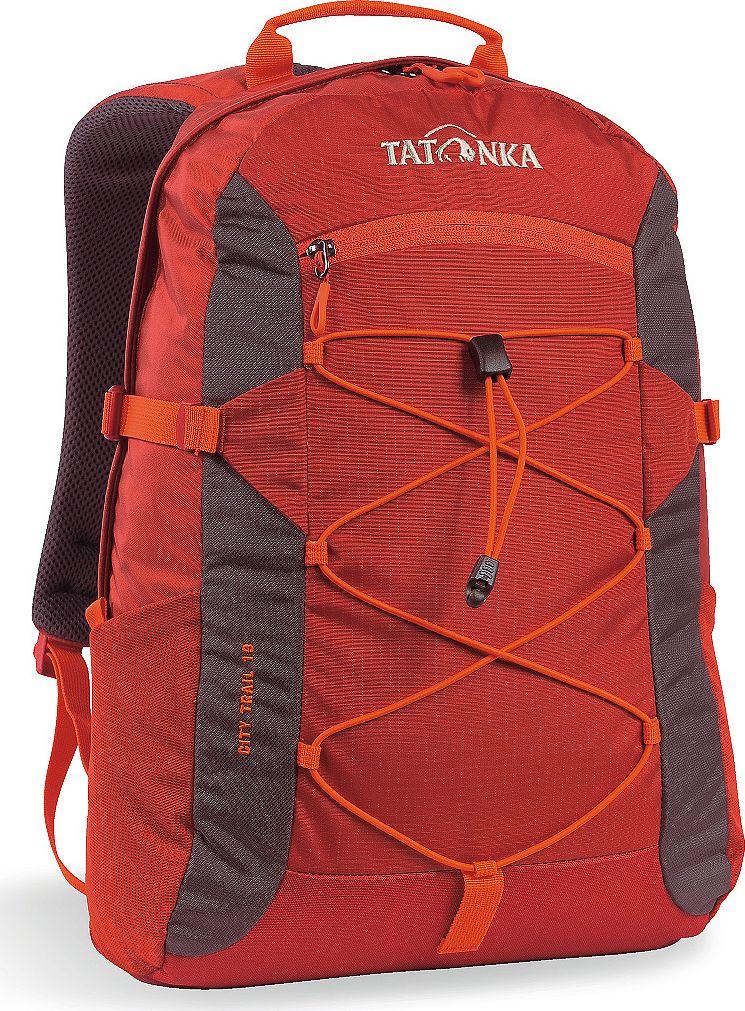 Рюкзак городской Tatonka City Trail, цвет: красный, 19 л1621.254Городской рюкзак Tatonka City Trail 19 идеален для ежедневного использования. Спинка Vent Comfort Back System обеспечит вентиляцию даже в жаркий день. Рюкзак оснащен прилегающим к спине карманом для ноутбука 15,4 дюйма. Карман не доходит до дна рюкзака, таким образом, даже если неаккуратно поставить рюкзак на пол, ноутбук будет в сохранности.Основное отделение закрывается на молнию с двумя бегунками. Эластичная стропа по центру рюкзака позволяет закрепить велошлем или куртку.Размер: 43 x 28 x 14 см.