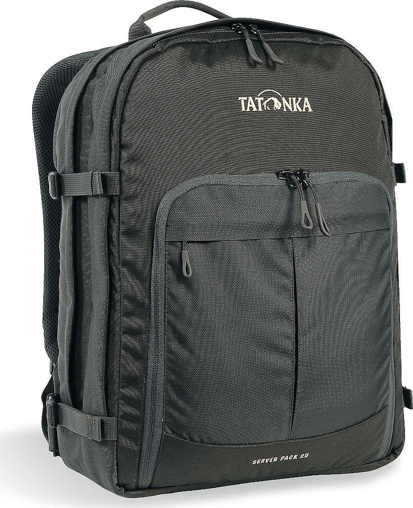 Рюкзак городской Tatonka Server Pack, для учебы и работы, цвет: темно-серый, 25 л1626.021Городской рюкзак Tatonka Server Pack - это вместительный рюкзак для офиса или учебы с большими возможностями аккуратного хранения вещей. В двух основных отделениях легко размещаются папки и документы A4 и ноутбук 17 дюймов (для него предусмотрен свой карман). В переднем кармане находится практичный органайзер с мягким отделением для смартфона. Удобная система переноски и мягкие плечевые лямки гарантируют максимальный комфорт. Преимущества и особенности:- Спинка Vent Comfort;- Регулируемый нагрудный ремень;- Съемный поясной ремень;- Компрессионные стропы по бокам;- Ручка для переноски;- Уплотненное дно;- Передний карман с органайзером и отделением для смартфона;- Вшитое отделение для ноутбука (не касается дна);- Крючок для ключей;Размер: 43 x 31 x 16 см.