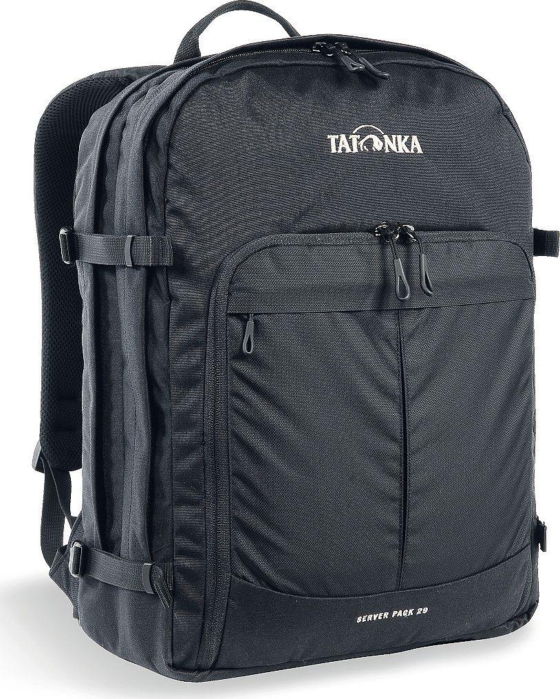 Рюкзак городской Tatonka Server Pack, для учебы и работы, цвет: черный, 29 л1630.040Городской рюкзак Tatonka Server Pack - это вместительный рюкзак для офиса или учебы с большими возможностями аккуратного хранения вещей. В двух основных отделениях легко размещаются папки и документы A4 и ноутбук 17 дюймов (для него предусмотрен свой карман). В переднем кармане находится практичный органайзер с мягким отделением для смартфона. Удобная система переноски и мягкие плечевые лямки гарантируют максимальный комфорт. Преимущества и особенности:- Спинка Vent Comfort;- Регулируемый нагрудный ремень;- Съемный поясной ремень;- Компрессионные стропы по бокам;- Ручка для переноски;- Уплотненное дно;- Передний карман с органайзером и отделением для смартфона;- Вшитое отделение для ноутбука (не касается дна);- Крючок для ключей;Размер: 44 x 33 x 17 см.