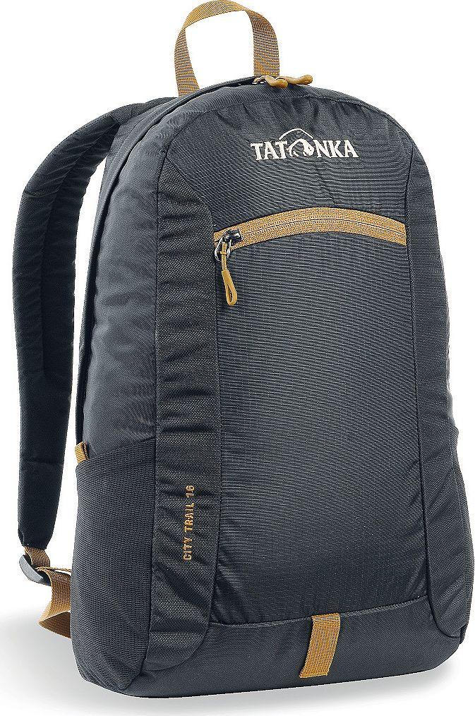 Рюкзак городской Tatonka City Trail 16, цвет: черный, 16 л1632.040Tatonka City Trail - аккуратный и удобный рюкзак для города, оснащен боковыми сетчатыми карманами и центральным карманом на молнии, петлей для крепления фонаря, держателем для ключей. Для удобства переноски он имеет удобную ручку и анатомические мягкие лямки, которые можно отрегулировать по длине.Рюкзак выполнен из полиэстера и нейлона.Размер: 42 x 24 x 12 см.