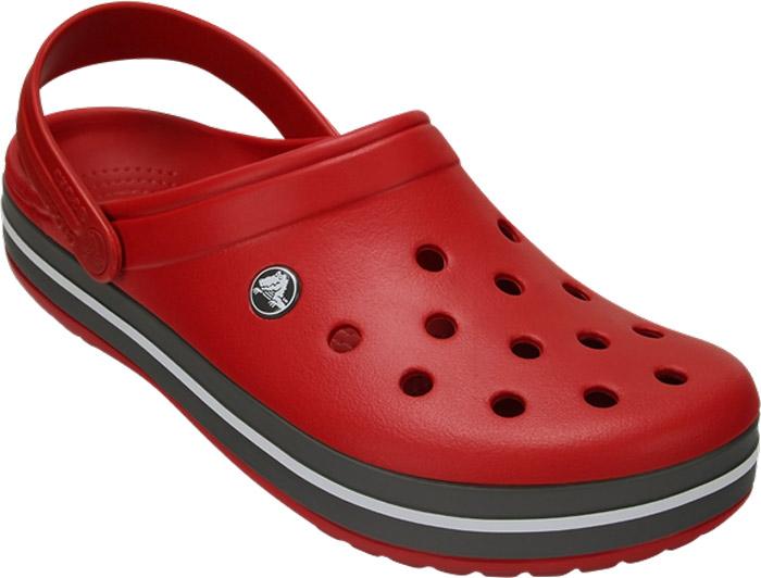 Сабо Crocs Crocband, цвет: красный. 11016-6EN. Размер 9-11 (41/42)11016-6ENМодные сабо Crocband от Crocs придутся вам по душе. Верх модели выполнен из полимера Croslite с добавлением резины. Благодаря материалу Croslite обувь невероятно легкая, мягкая и удобная. Материал Croslite - бактериостатичен, препятствует появлению неприятных запахов и легок в уходе: быстро сохнет и не оставляет следов на любых поверхностях. Верх модели оформлен отверстиями, которые обеспечивают естественную вентиляцию, подошва - контрастными полосками и названием бренда. Под воздействием температуры тела обувь принимает форму стопы. Пяточный ремешок обеспечивает фиксацию стопы при ходьбе. Рельефная поверхность верхней части подошвы комфортна при движении. Рифленое основание подошвы гарантирует идеальное сцепление с любой поверхностью. Такие сабо - отличное решение для каждодневного использования!Уважаемые клиенты!Обращаем ваше внимание на то, что страной-изготовителем для некоторых размеров и цветов модели может быть Вьетнам.