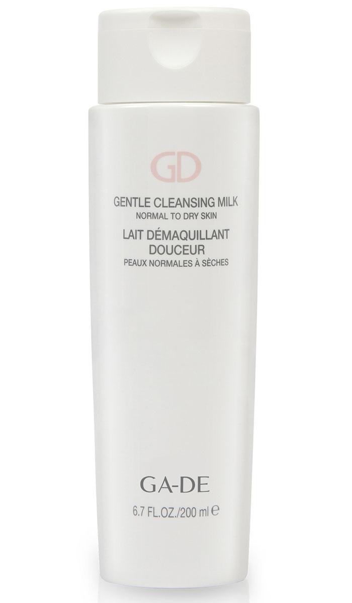 GA-DE Молочко Gentle Cleansing Milk (для сухой и норм. кожи), 200 мл137200000Косметическое молочко с очищающим комплексом растительных экстрактов мягко и эффективно снимает макияж, удаляет водо - и жирорастворимые загрязнения, увлажняет и успокаивает кожу. Поддерживает необходимый уровень увлажнения кожи, сохраняет целостность гидролипидной пленки, придает коже ощущение свежести и чистоты.