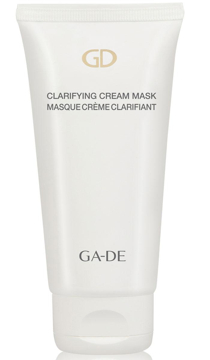 GA-DE Осветляющая маска для лица, 75 мл133000000Очищающая, осветляющая маска Clarifying Cream Mask на основе комплекса растительных экстрактов с добавлением белой глины. Стимулирует быстрое обновление эпидермиса, нормализует деятельность сальных желез, способствует восстановлению дермального матрикса. Подавляет выработку меланина, уменьшает пигментные пятна и способствует осветлению и восстановлению здорового цвета лица любого типа кожи. Витамин С - участвует в синтезе коллагена и эластина.