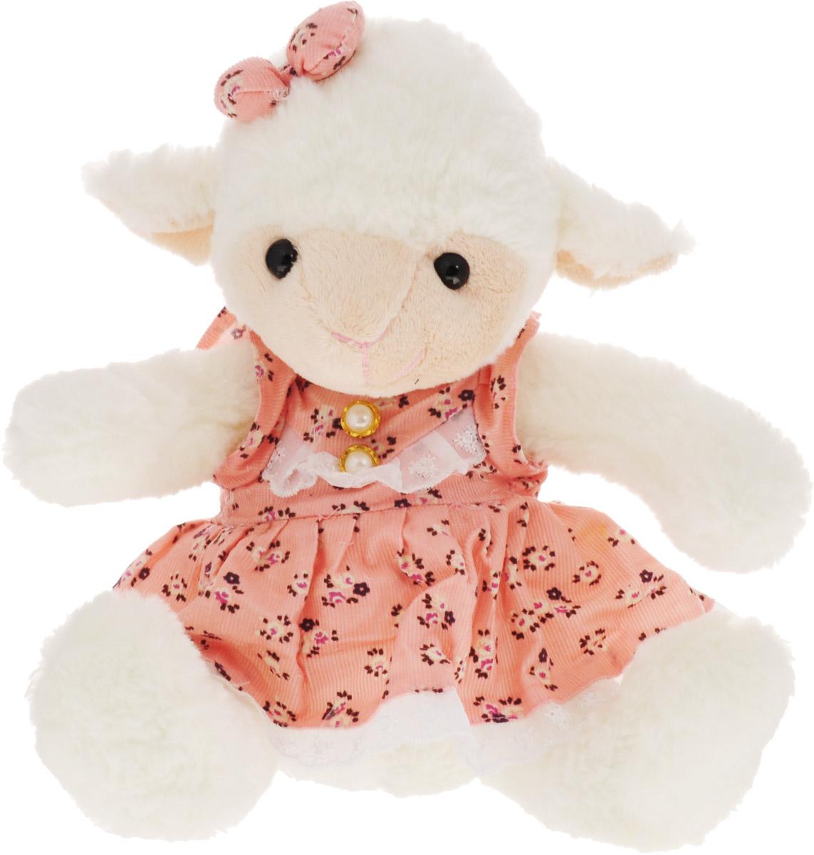 Magic Bear Toys Мягкая игрушка Овечка девочка цвет розовый 23 см мягкая игрушка пряничная девочка 23 см