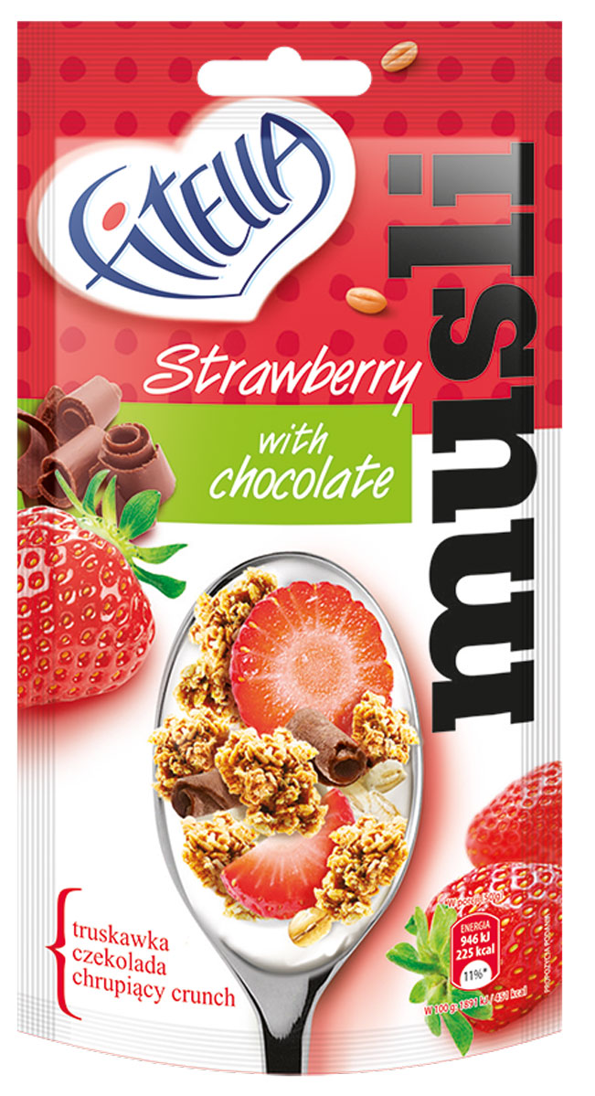 Fitella Muesli Strawberry мюсли с клубникой и шоколадом, 50 г хочу автомат для продажи фаст фуда