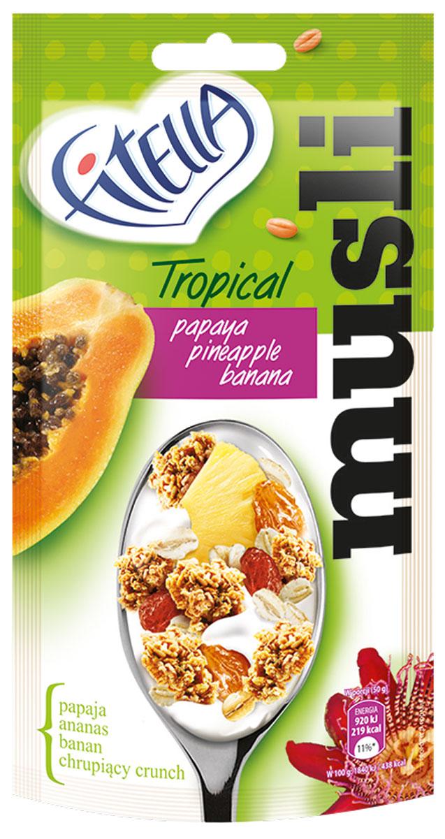 Fitella Muesli Tropic мюсли с папайей, ананасом и бананом, 50 г milli гамак с перекладинами tropic