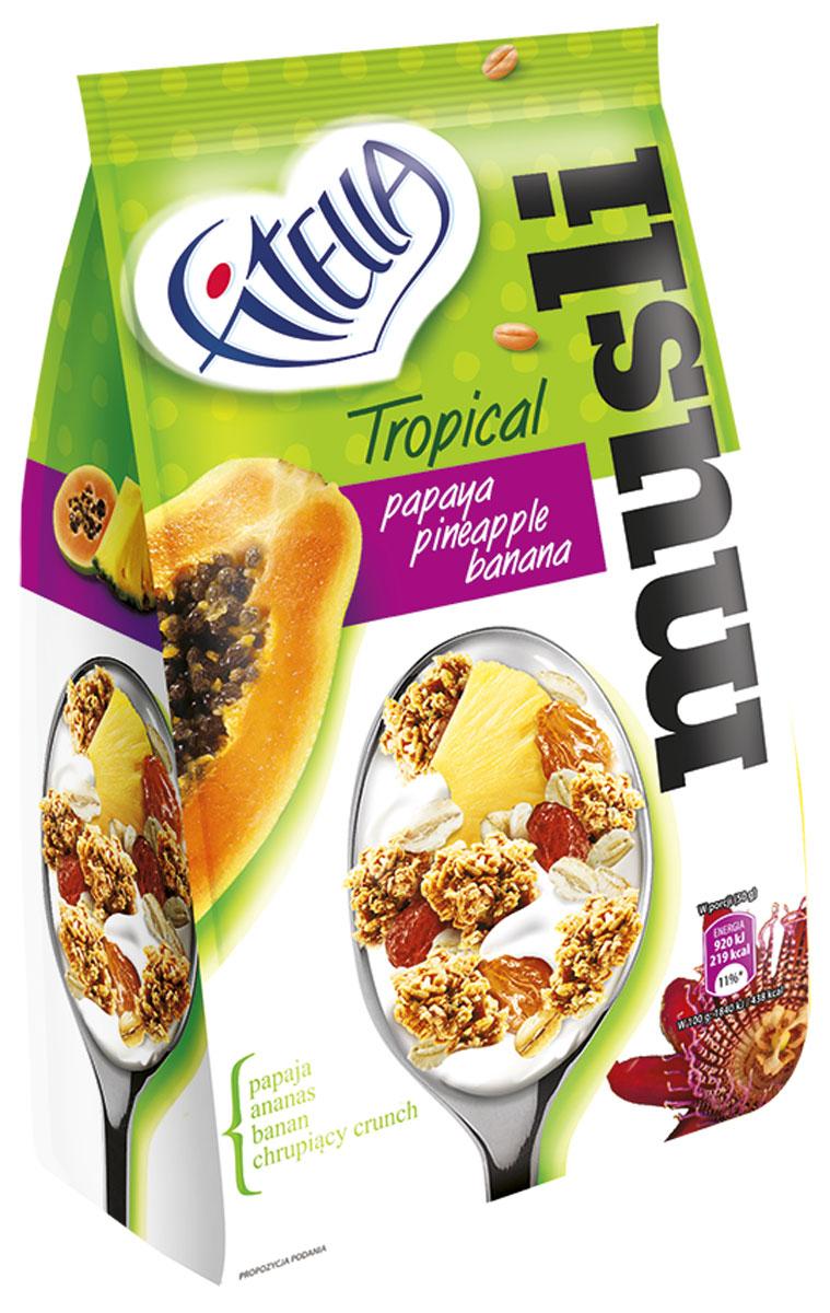 Fitella Muesli Tropic мюсли с папайей, ананасом и бананом, 300 г milli гамак с перекладинами tropic