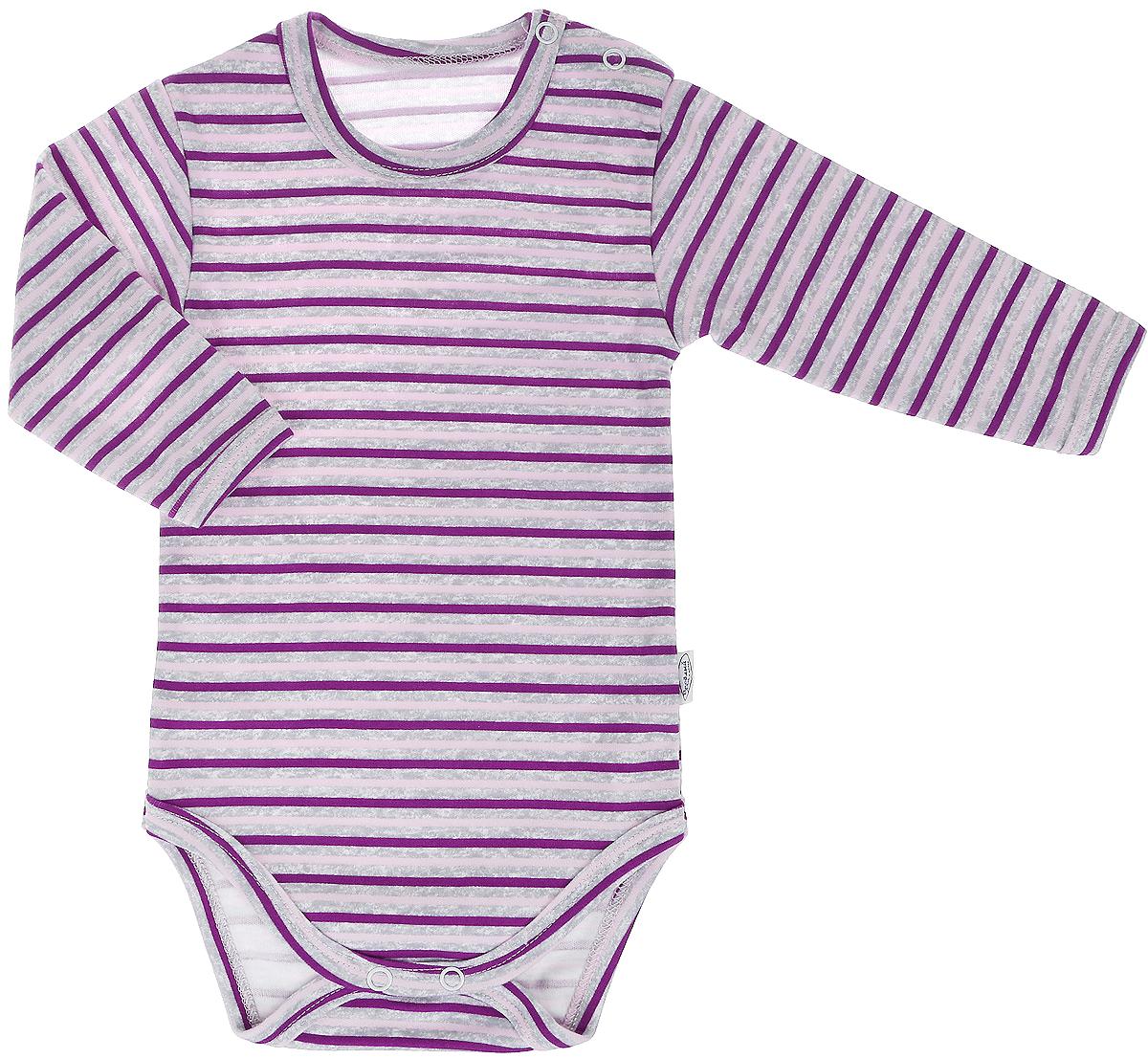 Боди для девочки Веселый малыш One, цвет: розовый. 46152/One-B (1). Размер 6246152Боди для девочки Веселый малыш One выполнено из качественного материала. Модель с круглым вырезом горловины и длинными рукавами застегивается на кнопки.