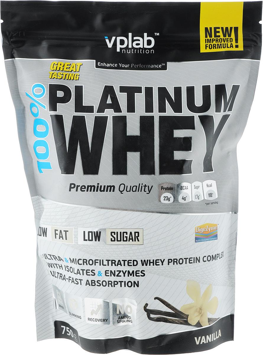 "Протеин Vplab ""100% Platinum Whey"", ваниль, 750 г, VP Laboratory"