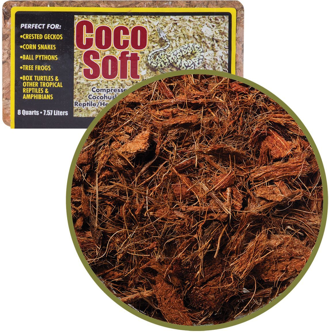 Субстрат для террариумов Caribsea Coco Soft, кокосовая стружка, 7,57 л00618Субстрат для террариумов Caribsea Coco Soft обладает природным саморегулированием влажности. Скорлупа кокосового ореха является эффективным компонентом подстилки в террариумах. Используется для рептилий, паукообразных насекомых и земноводных.