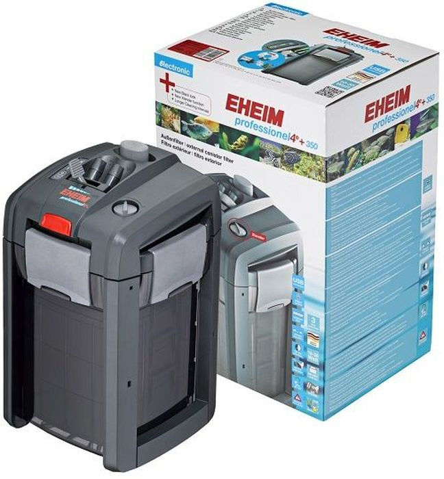 Фильтр внешний Eheim Professionel 4+ 3502273020Новый усовершенствованный интеллектуальный внешний канистровый фильтр Eheim Professionel 4+ 350 под пресную и морскую воду для аквариумов и акватеррариумов. Квадратный контейнер обеспечивает стабильность, большой объем фильтра, подходит для углов и не занимает слишком много места. Благодаря новой функции Xtender интервалы между очисткой фильтра могут быть расширены. Профессиональные фильтры 4+ характеризуются высокой пропускной способностью, низким потреблением энергии и дополнительными характеристиками: Самонаправляющее средство упрощает систему фильтров для быстрого и легкого запуска. Адаптер предохранительного шланга. Кран с 2 шланговыми соединителями - по соображениям безопасности адаптер для шланга можно отпускать только при закрытии клапанов. Верхний префильтр захватывает большие частицы грязи и может регулярно очищаться, что позволяет продлить период обслуживания между очисткой среды. Индивидуальные корзины фильтров для биологических и механических сред. Корзины можно легко удалить, и содержимое можно очистить с помощью сетки Easy Clean. Если материал (тонкая фильтровальная панель) заблокирован, скорость потока можно увеличить с помощью функции управления. Вода будет перенаправлена, но биологическая фильтрация будет сохранена, что позволит отложить фильтрацию на несколько дней. Высокопроизводительные подшипники и керамические оси гарантируют бесшумный ход, долгий срок службы и долговечность. Для аквариумов: 180-350 л.Мощность насоса (50 Гц): 1050 л/ч.Насосная головка (H max при 50 Гц): 1,8 м.Мощность (50 Гц): 16 ватт.Объем фильтра: 5 л.Объем предварительного фильтра: 0,5 л.Объем контейнера: 7,4 л.Ширина: 238 мм.Высота: 398 мм.Глубина: 244 мм.Высота установки: 180 см.Напряжение: 230 вольт.Диаметр шланга всасывания (внутри): 16 / 22 мм.Диаметр напорного шланга (внутри): 16 / 22 мм.