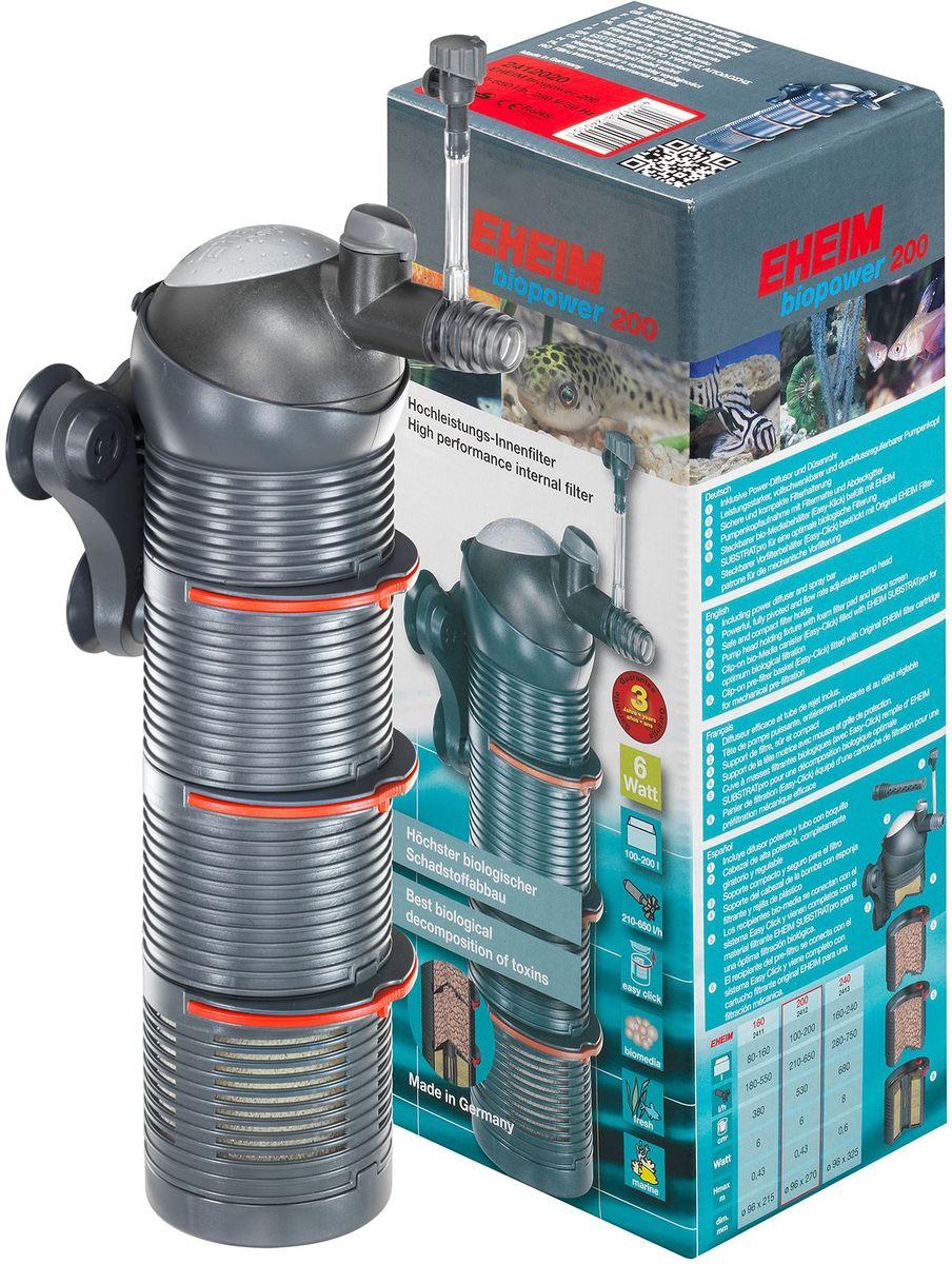 Фильтр внутренний Eheim Biopower 2002412020Технология внешнего фильтра и многослойная фильтрация позволяет закачивать воду со дна на вверх через различные слои фильтра и после фильтрации направлять обратно в резервуар.Закрытые корзины фильтров предварительно заполнены Eheim Substratpro. Входная корзина содержит фильтр-картридж для механико-биологической предварительной фильтрации. В держателе головки головки фильтра имеется дополнительная фильтрация. Добавляя или удаляя фильтрующие модули (корзины фильтров), вы можете при необходимости отрегулировать объем фильтра. Благодаря модульной конструкции фильтровальные картриджи можно очищать с различными интервалами, тем самым сохраняя культуры бактерий.Шарообразная головка насоса находится в шаровой розетке и может поворачиваться вправо. Таким образом, отток фильтрованной воды может быть направлен в любом направлении. Диффузор мощности регулируется для регулирования подачи воздуха и, следовательно, обогащения кислорода в аквариуме. Держатель для фильтра просто крепится к стеклу с присосками. Для очистки, замены модулей или заполнения фильтрующим материалом фильтр просто удаляется из держателя.Для аквариумов: 100-200 л.Мощность насоса (50 Гц): 210-650 л/ч.Насосная головка (H max при 50 Гц): 0,43 м.Мощность (50 Гц): 6 ватт.Объем фильтра: 0,53 л.Высота: 270 мм.Диаметр фильтра: 96 мм.Напряжение: 230 вольт.