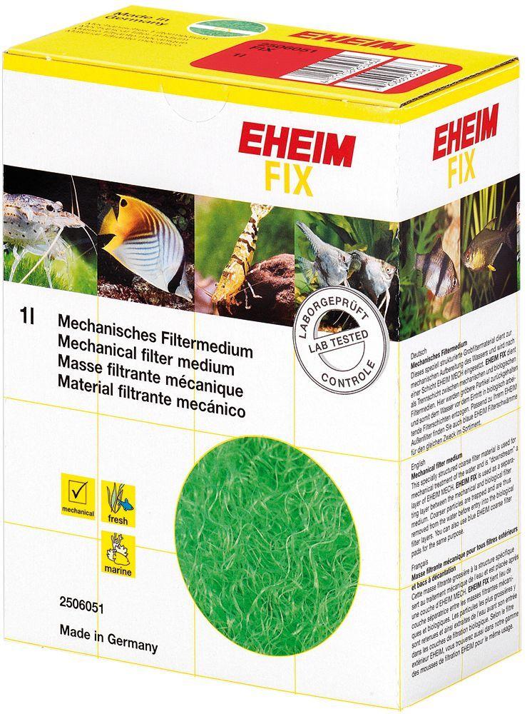 Наполнитель для фильтра Eheim Fix, волокно, 1 л2506051Фильтрующий материал- волокно Eheim Fix для предварительной очистки и улавливания твердых частиц грязи. Устанавливается между механической и биологическими фильтрующими материалами. Не содержит фенол. Для морских и пресноводных аквариумов.