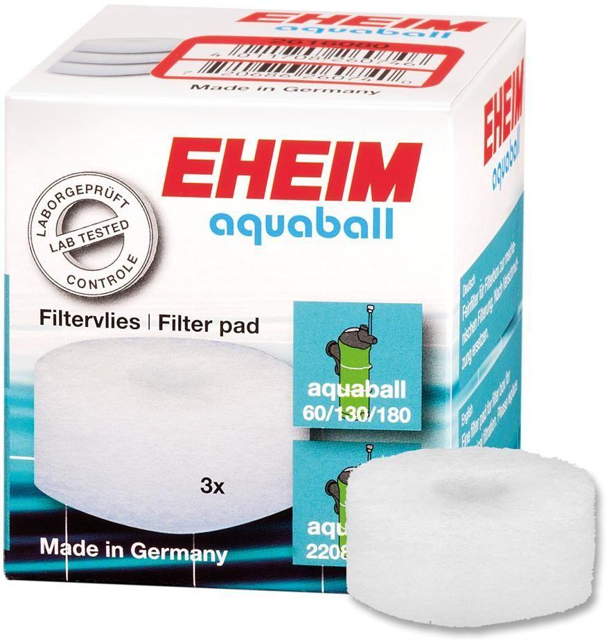 Наполнитель для фильтра Eheim Aquaball 60/130/180, синтепон, 3 шт eheim фильтр внутренний eheim aquaball 180