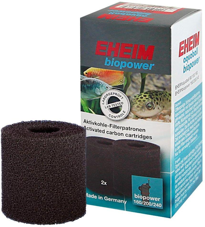 Картридж для фильтра Eheim Aquaball Biopower, угольный, 2 шт аквариум для рыб eheim vivaline 240 240л белый
