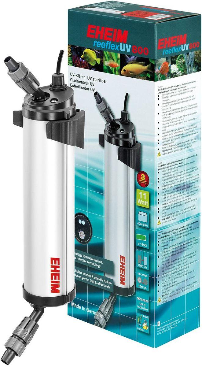Стерилизатор для аквариума Eheim Reeflex-Uv-8003723210Стерилизатор для аквариума Eheim Reeflex-Uv-800 быстро и эффективно снижает количество микроорганизмов в воде. Устраняет замутнение, вызванное водорослями или бактериями. Находящийся внутри глянцевый алюминиевый слой отражает ультрафиолетовый свет и обеспечивает особо эффективное обеззараживание. Предотвращает потерю производительности благодаря специальной конструкции, сохраняющей движение воды. Также идеально подходит для отсадников, снижает риск инфекционного заражения.Фильтрующие бактерии, обитающие в субстракте, сохраняются до появления плавающих форм. Простой и безопасный в обращении и очистке. Auto-off автоматическое предохранительное отключение при замене ламп.Легко крепится с помощью прилагаемого специального крепления.Для аквариумов: 400 - 800 л. Мощность при 60 Гц мин: 11 ватт. Максимальное давление при 50 Гц: 0,80 бар. Ширина: 106 мм. Высота: 523 мм. Глубина: 149 мм. Напряжение: 230 вольт. Частота: 50 Гц.