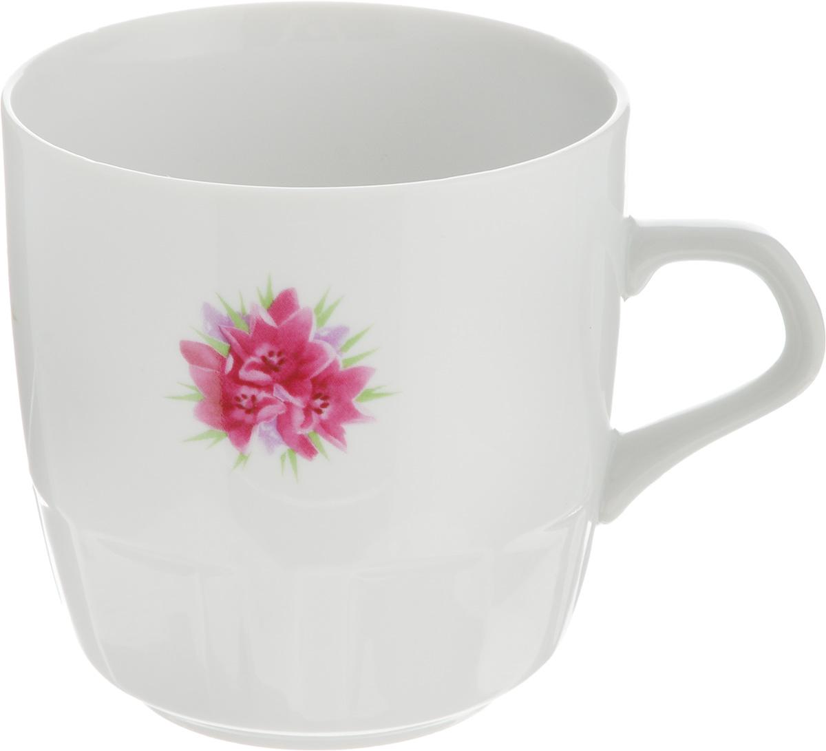 Кружка Фарфор Вербилок Крокус, 250 мл кружка фарфор вербилок розовая лилия 200 мл