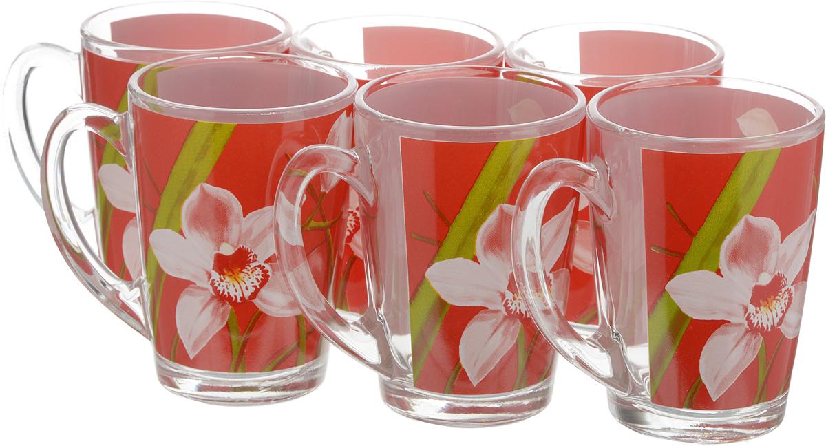 Набор кружек Luminarc Красная орхидея, 320 мл, 6 шт