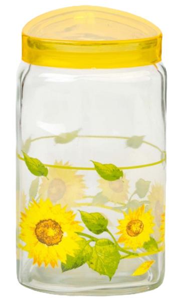 Банка для сыпучих продуктов Attribute Sunflower, с крышкой, 1500 млDM9956