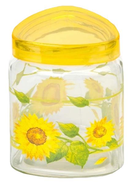 Банка для сыпучих продуктов Attribute Sunflower, с крышкой, 600 млDM9958