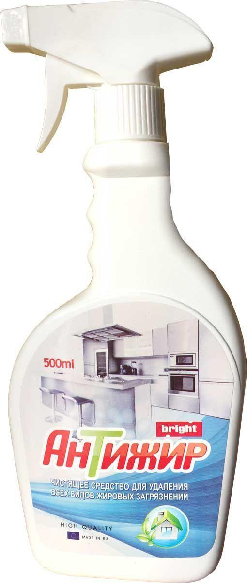 Средство чистящее Bright АнТижир, для кухни, 500 мл105120Чистящее средство Bright АнТижир с механическим распылителем, произведено на основе растительных масел. Средство предназначено для удаления всех видов жировых загрязнений в грилях, вытяжках и духовых печах. Легко удаляет пригоревшие жиры и сажу. Не рекомендуется применять для очистки окрашенных поверхностей, тефлоновых покрытий, изделий из латуни, меди, цинка.Товар сертифицирован.Как выбрать качественную бытовую химию, безопасную для природы и людей. Статья OZON Гид