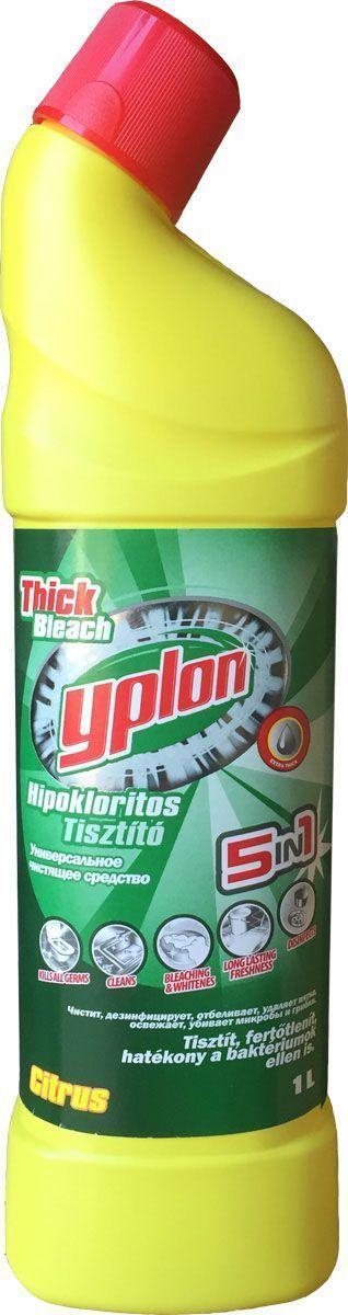 Гель для чистки унитаза Yplon 5 в 1. Лимон, 1 л301060Гель для унитазов Yplon имеет густую консистенцию. Средство эффективно очищает, придает ослепительную белизну обрабатываемой поверхности, а также дезинфицирует и ароматизирует. Гель имеет удобную форму флакона с носиком, который позволяет нанести жидкость под самую кромку унитаза. Товар сертифицирован.Как выбрать качественную бытовую химию, безопасную для природы и людей. Статья OZON Гид