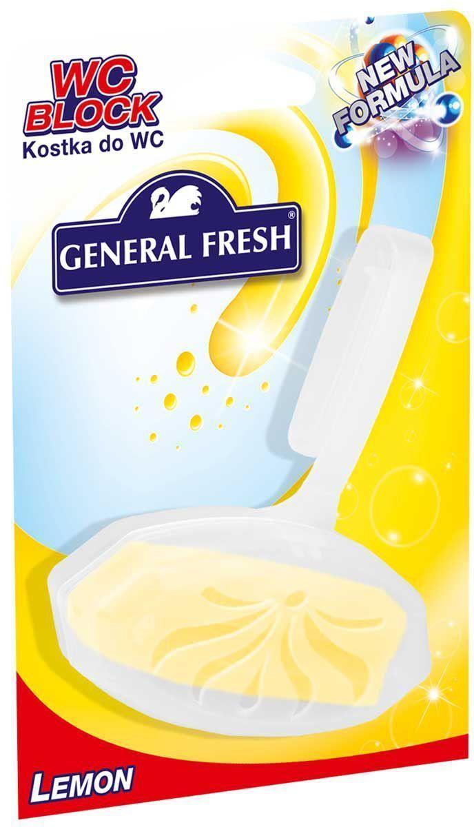 Подвеска для унитазов General Fresh Kostka do WC. Lemon, на картоне, 1 шт
