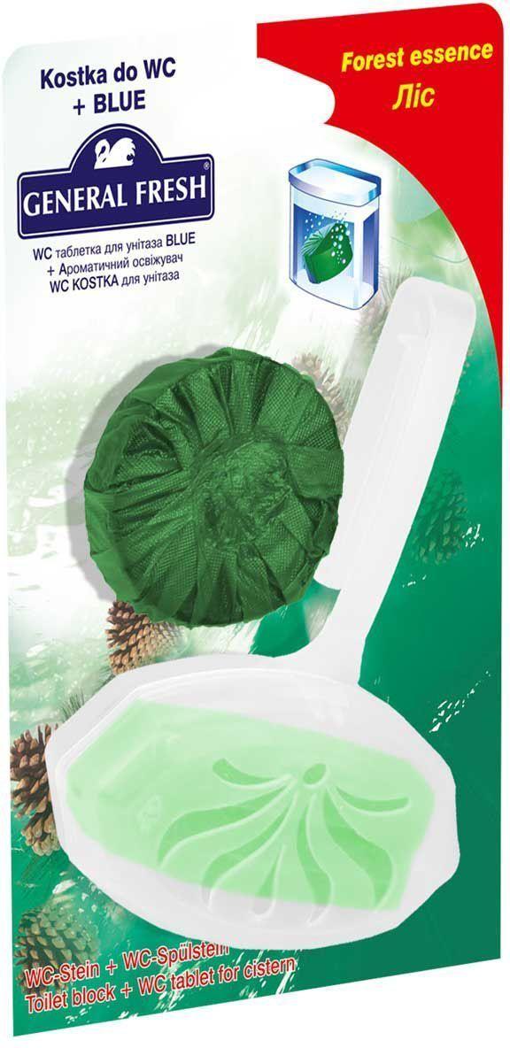 Подвеска для унитаза General Fresh WC Kostka + Очиститель-освежитель для смывного бачка General Fresh Blue. 570201570201Очищают поверхность унитаза, предотвращая образование известкового налета. Уничтожают бактерии даже в труднодоступных местах. Создают обильную пену и стойкий свежий аромат при каждом сливе воды. Товар сертифицирован.Как выбрать качественную бытовую химию, безопасную для природы и людей. Статья OZON Гид