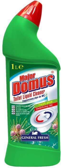 Концентрат для поддержания гигиены в туалете General Fresh Major Domus. Сосновая свежесть, 1 л583510Моющее средство Мајоr Domus предназначен для поддержания гигиены в туалете. Эффективно очищает труднодоступные места, предотвращает появление известкового камня и ржавчины. Активен также ниже уровня воды. Оставляет устойчивый и приятный запах. Товар сертифицирован.Как выбрать качественную бытовую химию, безопасную для природы и людей. Статья OZON Гид