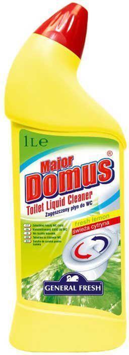 Концентрат для поддержания гигиены в туалете General Fresh Major Domus. Лимонная свежесть, 1 л583520Моющее средство Мајоr Domus предназначен для поддержания гигиены в туалете. Эффективно очищает труднодоступные места, предотвращает появление известкового камня и ржавчины. Активен также ниже уровня воды. Оставляет устойчивый и приятный запах. Товар сертифицирован.