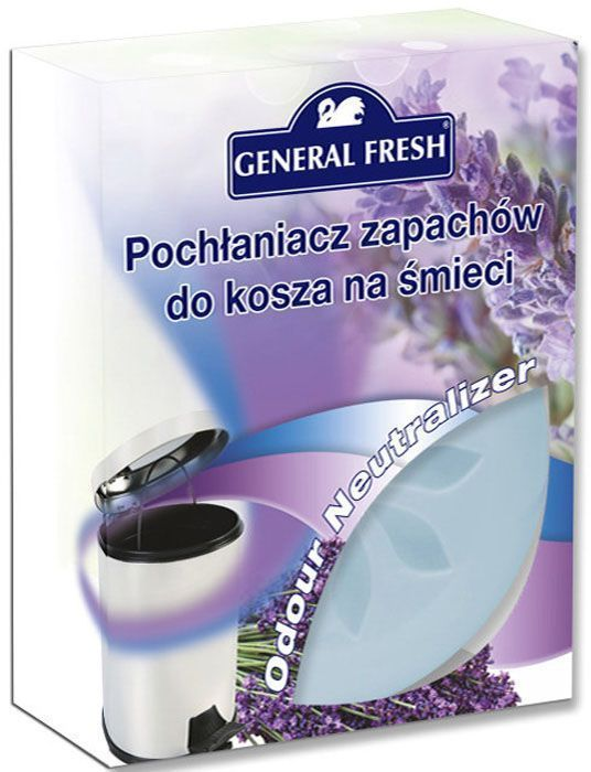Поглотитель запахов General Fresh, для мусорных ведер. 587110587110Тщательно подобранная ароматическая композиция, основанная на запатентованной формуле, поможет эффективно побороть неприятные запахи из мусорного ведра. Поглотитель запахов для мусорных ведер, в отличие от обычных освежителей, не только маскирует тяжелый запах, но и устраняет его у самого источника, блокируя распространение по другим помещениям в доме. Наслаждайтесь приятным ароматом надолго.
