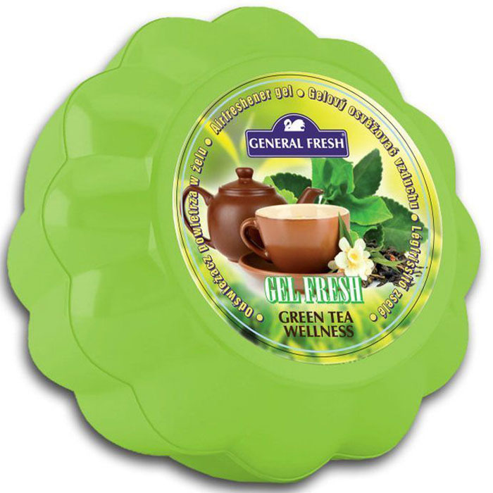 Освежитель воздуха General Fresh Gel Fresh. Зеленый чай, гелевый. 589030 fresh brand fr040emppd59
