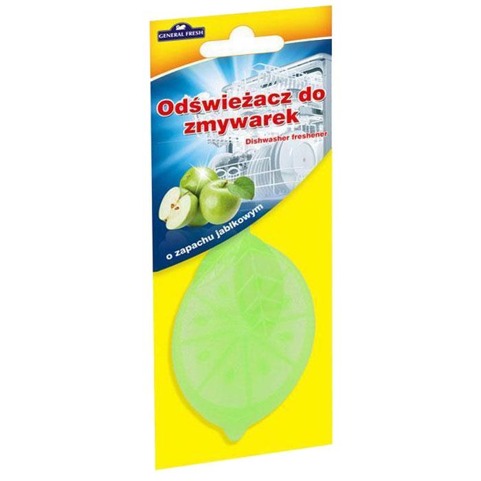 Освежитель для посудомоечных машин General Fresh Odswiezacz Do Zmywarek. Зеленое яблоко, 1 шт593902Освежитель для посудомоечных машин ODSWIEZACZ DO ZMYWAREK поглощает и нейтрализует неприятные запахи и оставляет приятный аромат зеленого яблока в посудомоечной машине, не оставляя каких-либо запахов на посуде. Благодаря удобному в подвеске освежителю, использование посудомоечной машины будет таким приятным, как никогда раньше. Товар сертифицирован.