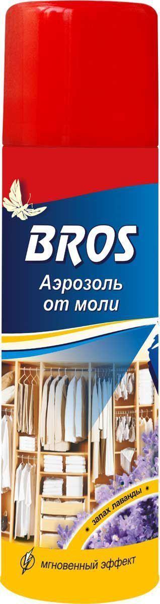 Аэрозоль BROS, от моли, 150 мл полироль пластика goodyear атлантическая свежесть матовый аэрозоль 400 мл