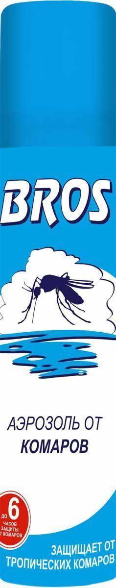 Аэрозоль BROS, от комаров, 90 мл706859Аэрозоль BROS - это препарат с репеллентным действием, который обеспечивает длительную защиту от комаров и клещей. Форма спрея гарантирует удобство применения препарата. Предназначен для защиты взрослых и детей старше 5 лет от нападения кровососущих насекомых (комаров, мокрецов, москитов, мошек, слепней, блох) при нанесении на открытые части тела, одежду, занавеси, сетки и другие изделия из ткани. Применение: Перед применением баллон встряхнуть. Распылить средство на открытые части тела с расстояния 20-25 см. Для обработки лица и шеи средство распылить на ладонь и, не втирая, нанести на кожу. Средство относится к высшей категории эффективности. Время защитного действия: при нанесении на кожу - до 6 часов, при нанесении на одежду - 20 суток. Состав: N,N–диэтилтолуамид (ДЭТА) 15 г/100 г (15%), спирт этиловый, функциональные и технологические компоненты.