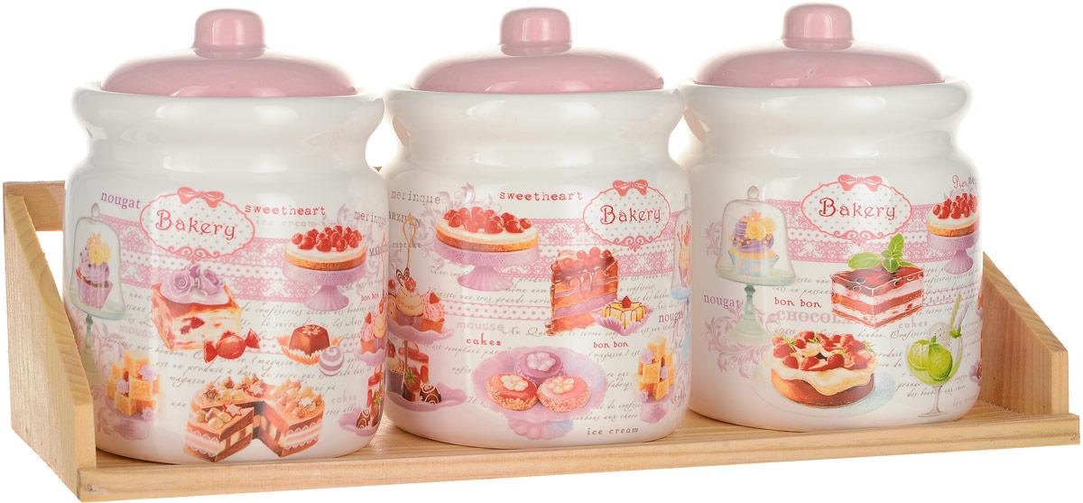 Набор банок для сыпучих продуктов Polystar Collection Бисквит, 4 предмета набор для специй polystar harmony 4 предмета