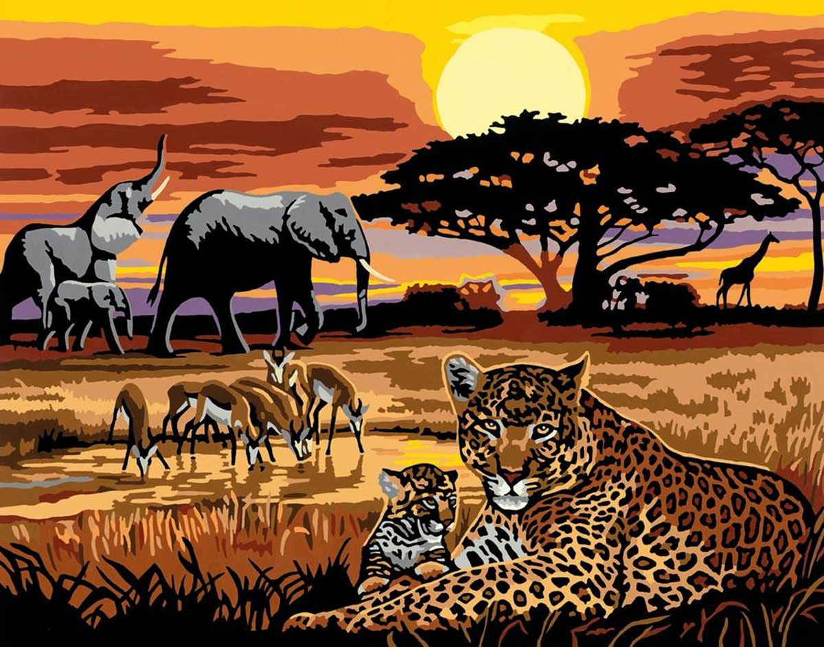 Ravensburger Картина по номерам Африка
