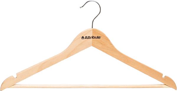 Вешалка универсальная Attribute Hanger Classic, прямая, 44 см [ fly eagle ] creative white wooden wall hanger racks with 4 hooks love hook hanging hanger for keys jewelry towelfree shipping
