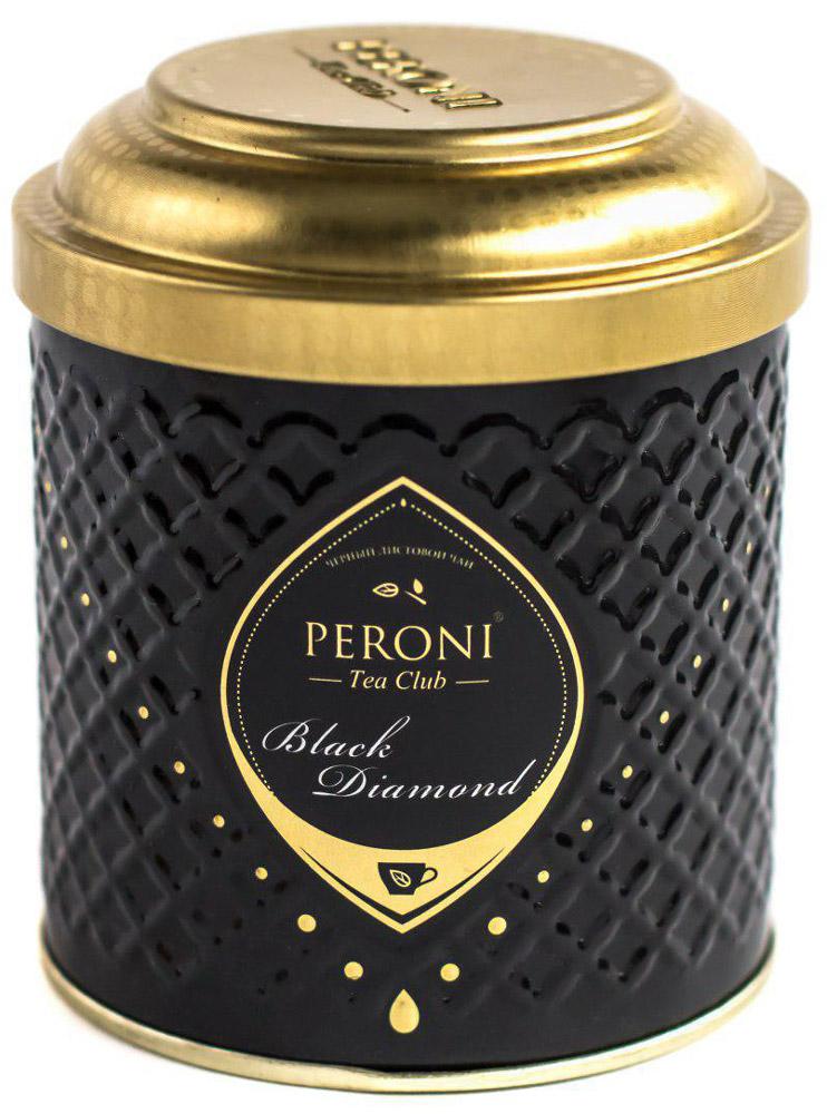 Peroni Black Diamond чай черный крупнолистовой, 70 г45tЧёрные чаи Peroni Black Diamond - это плантационные индийские чаи и чайные бленды, отобранные командой лучших титестеров. Для создания и выбора одного этого вкуса было опробовано более 300 сортов чая из разных стран. Его отличает богатый аромат и цвет настоя, насыщенно-мягкий c терпко-шершавым послевкусием, который сравним с односолодовым виски. Для истинных ценителей и гурманов!Всё о чае: сорта, факты, советы по выбору и употреблению. Статья OZON Гид