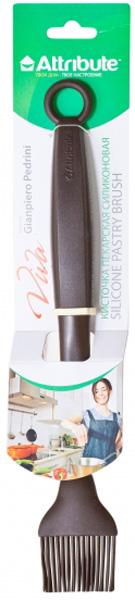 Кисточка силиконовая Attribute Viva Chocolate, цвет: шоколадный. ATV521ATV521