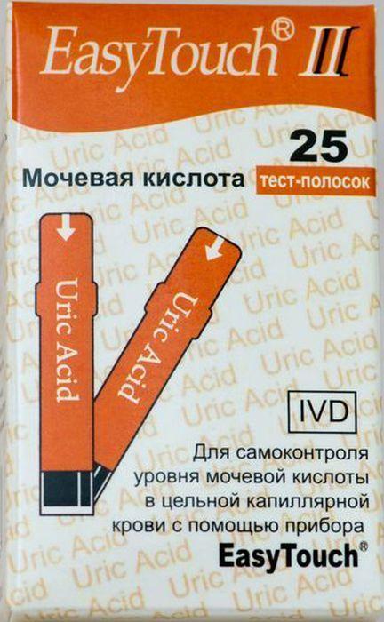 Тест-полоски на мочевую кислоту EasyTouch, 25 шт