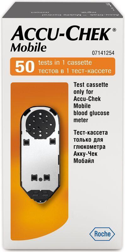 Тест-кассета Accu-Chek Mobile, 50 шт1470Тест-кассета только для глюкометра Акку-Чек Мобайл50 тестов в одной кассете.