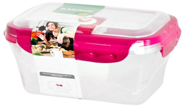 Контейнер вакуумный Attribute Berry, прямоугольный, 1,7 л контейнер пищевой вакуумный bekker koch прямоугольный 1 1 л