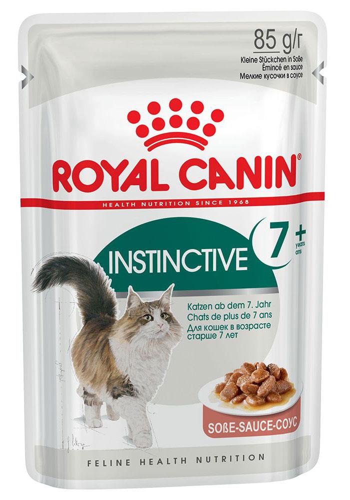Консервы Royal Canin Instinctive +7, для кошек старше 7 лет, мелкие кусочки в соусе, 85 г0168Консервы Royal Canin Instinctive +7 - полнорационное питание в виде мелких кусочкоы в соусе для кошек старше 7 лет. У кошек старше 7 лет: - Появляется избыточный вес, обусловленный снижением активности. - Ухудшается работа почек.- Замедляется процесс обновления клеток организма. Продление молодости.Способствует нейтрализации свободных радикалов благодаря запатентованному комплексу антиоксидантов. Здоровье почек.Способствует поддержанию здоровья почек благодаря умеренному содержанию фосфора.Пищевое предпочтение.Инстинктивно предпочитаемый нутриентный профиль. Состав: мясо и мясные субпродукты, злаки, экстракты белков растительного происхождения, субпродукты растительного происхождения, минеральные вещества, масла и жиры, моллюски и ракообразные, углеводы.Добавки (в 1 кг):Витамин D3: 265 ME, Железо: 1,8 мг, Йод: 0,02 мг, Марганец: 0,6 мг, Цинк: 6 мг.Товар сертифицирован. УВАЖАЕМЫЕ КЛИЕНТЫ!Обращаем ваше внимание на возможные изменения в дизайне упаковки. Качественные характеристики товара и его размеры остаются неизменными. Поставка осуществляется в зависимости от наличия на складе.Чем кормить пожилых кошек: советы ветеринара. Статья OZON Гид