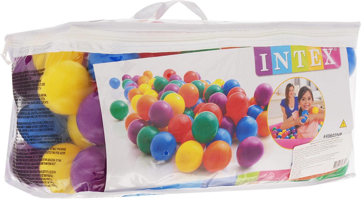 Intex Набор пластиковых шариков для сухого бассейна диаметр 6,5 см 100 шт
