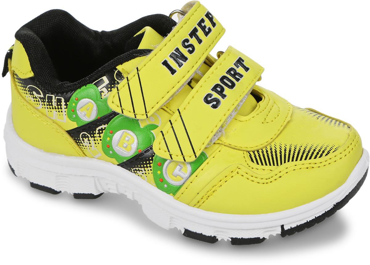 Кроссовки детские In Step, цвет: желтый. HF013. Размер 25HF013Детские кроссовки от In Step выполнены из искусственной кожи. Ремешки на липучке гарантируют надежную фиксацию обуви на ноге. Внутренняя поверхность и стелька из текстиля комфортны при движении. Рельефная подошва изготовлена из резины.