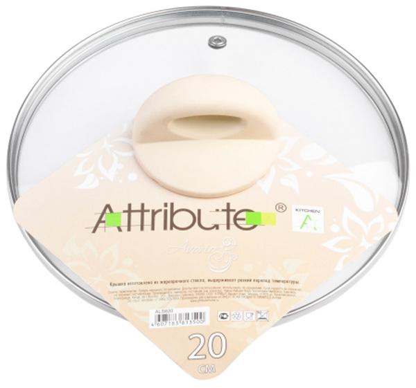 Крышка для посуды Attribute Avorio. Диаметр 20 см. ALS620ALS620Крышка для посуды Attribute Avorio, выполненная из жаропрочного стекла, предназначена для сковород и кастрюль. Изделие имеет удобную бакелитовую ручку, металлический обод и отверстие для выпуска пара.